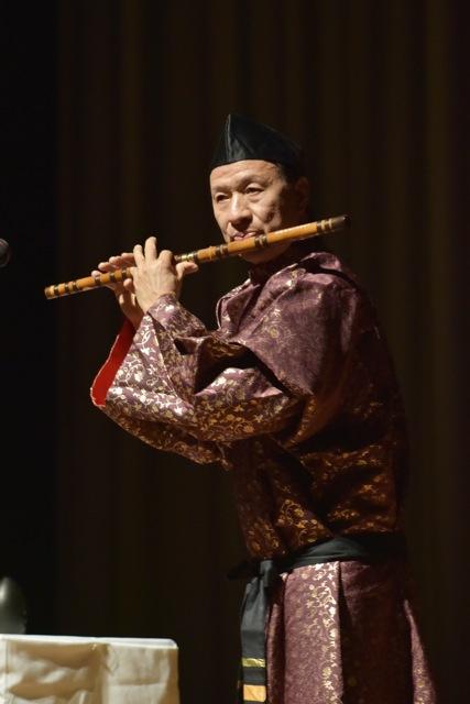 古楽器演奏池英籌氏の笛子